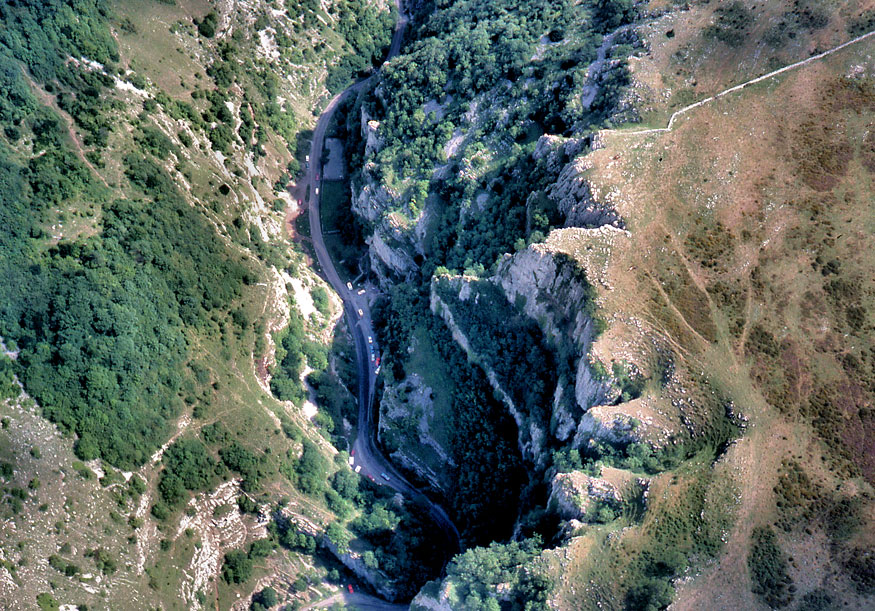Cheddar Gorge From The Air Somerset Guide Photos