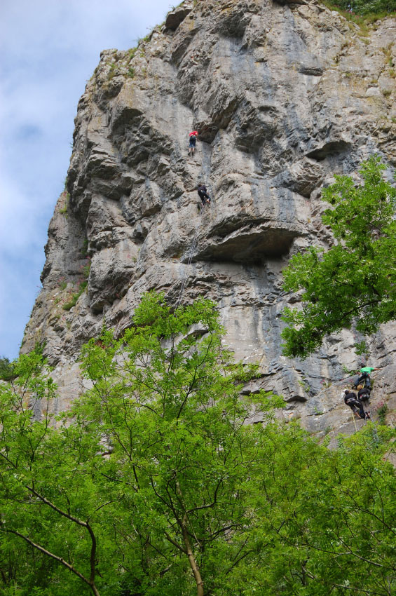 Climbing at Cheddar Gorge
