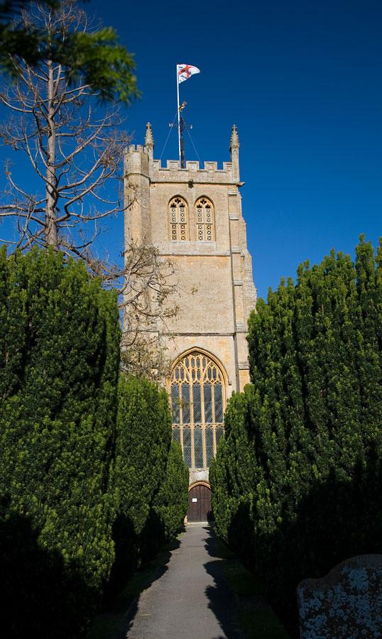 Martock Church Glimpse Somerset Guide Photos