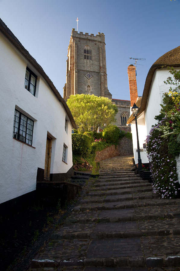 Minehead Cottages And Church Somerset Guide Photos